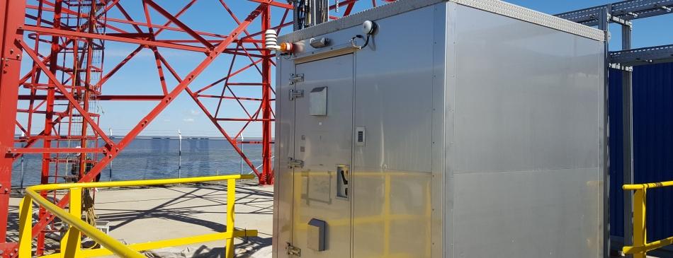 MS22NS next to telecommunication tower